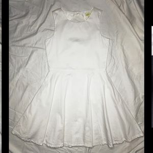Crazy 8 sleeveless white fit and flare dress